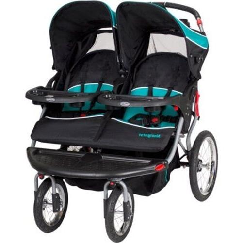Luxurious Double Stroller Twins Jogger Infant Seat Sound