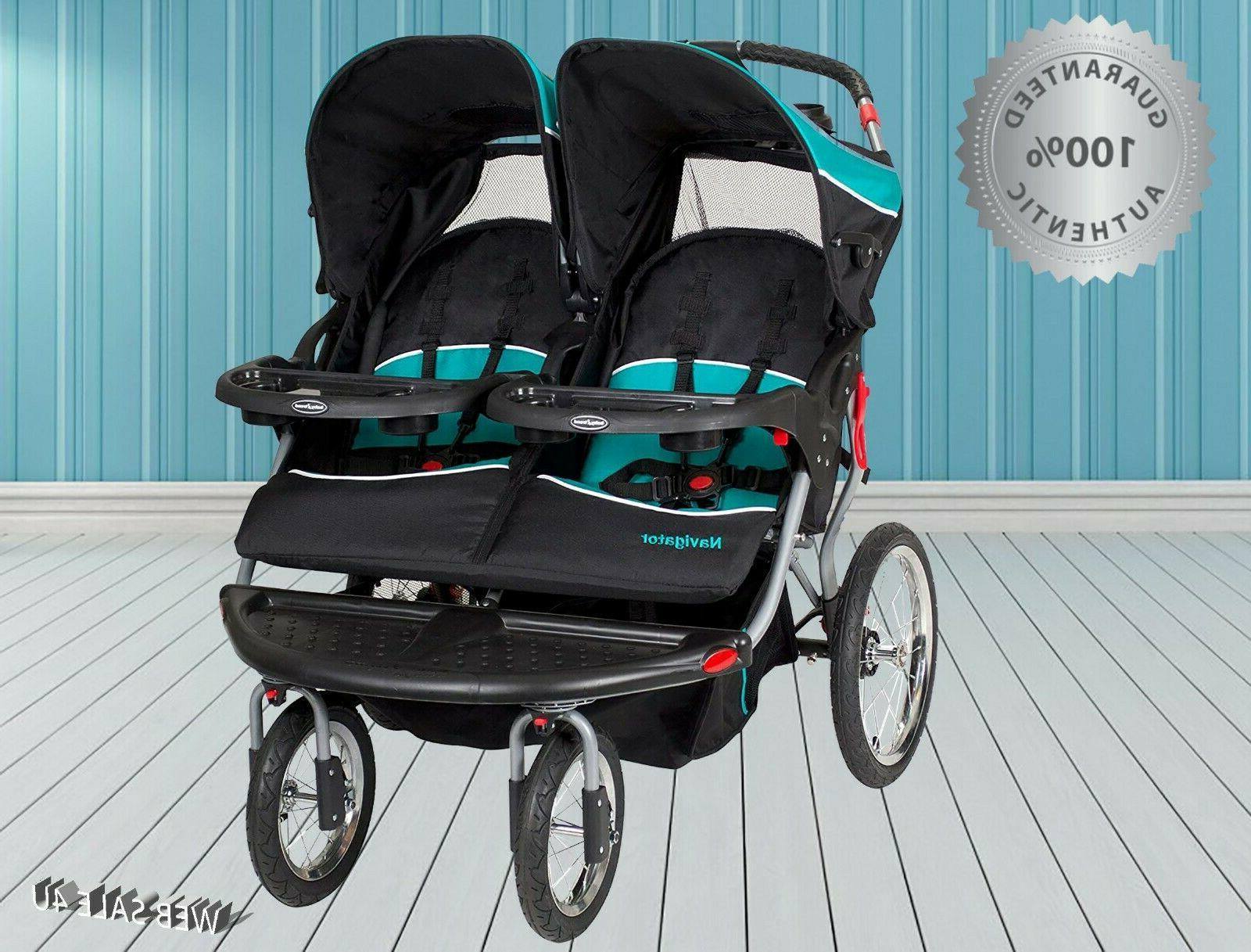 Luxury Double Baby Stroller Twins Jogger Push Kids Travel In