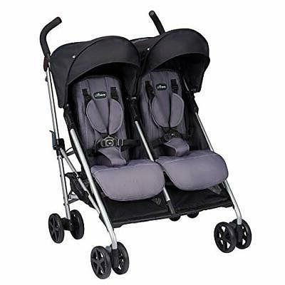 minno twin double stroller glenbarr grey