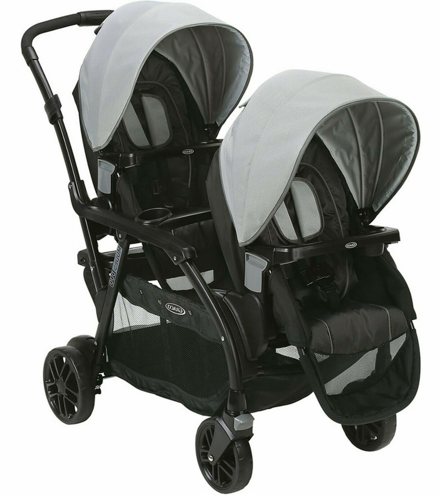 modes duo double stroller baby infant pushchair