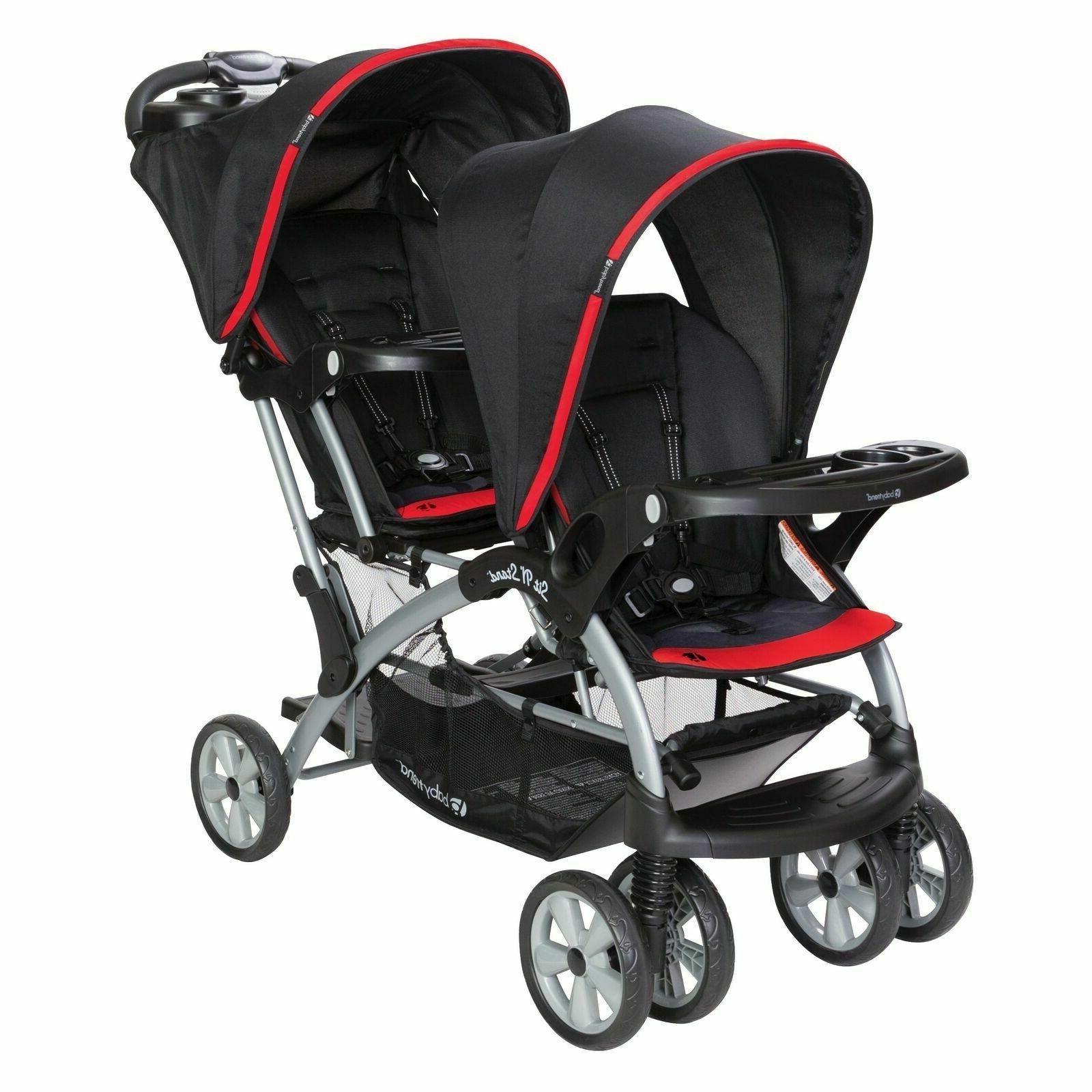 nib sit n stand double stroller optic
