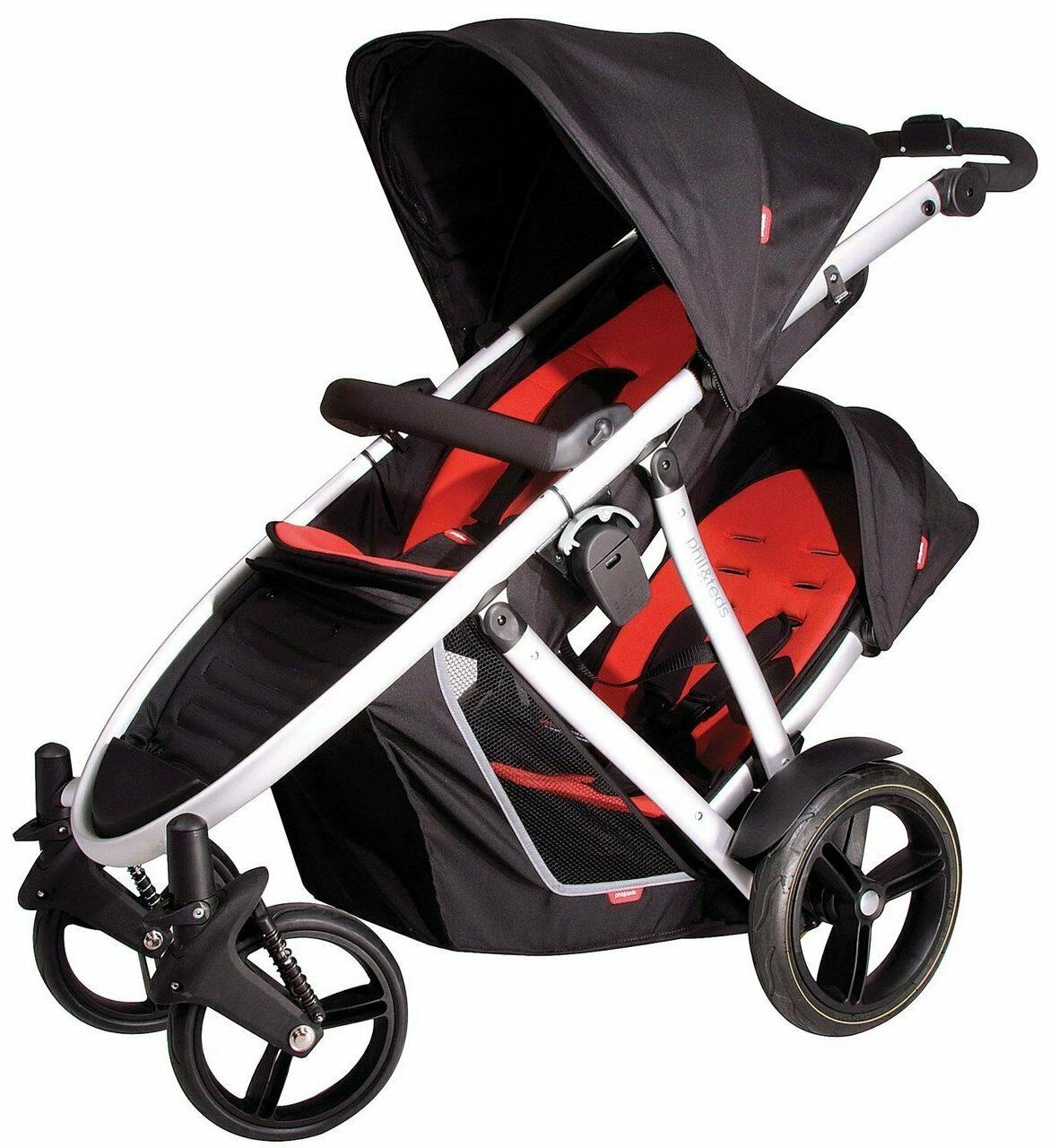 Phil & Teds 2012 Verve Stroller & Double Seat in Kit Black B