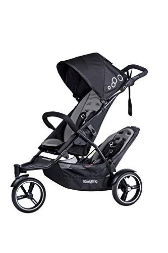 phil&teds Dot Inline Stroller with Second Seat, Graphite