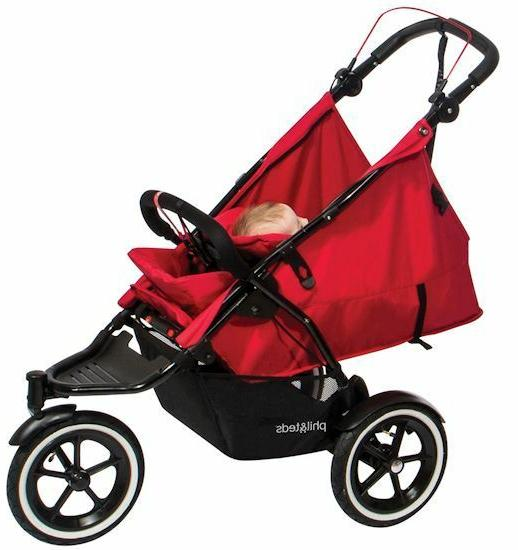 Phil Inline Twin Double Stroller with Seat Midnight