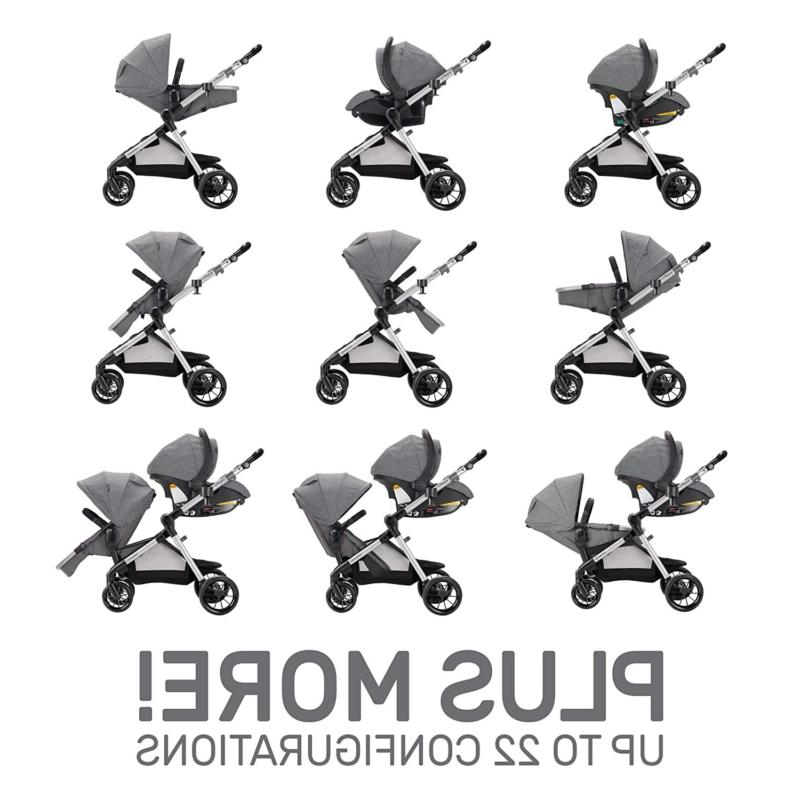 Evenflo Pivot Xpand, Single-To-Double Convertible Baby Stroller With Compact