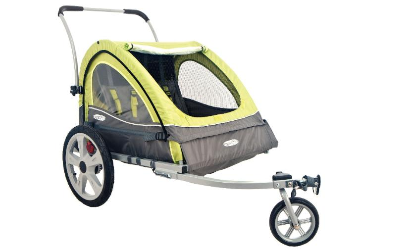 pull behind double seat bike trailer