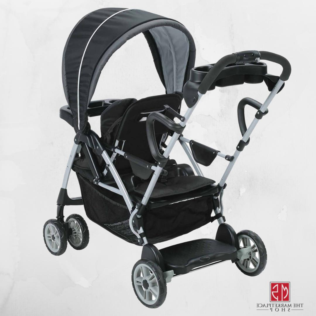 Room For 2 Click Connect Stand And Ride Double Stroller Adju