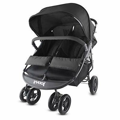 scooter x2 double stroller black 1 black