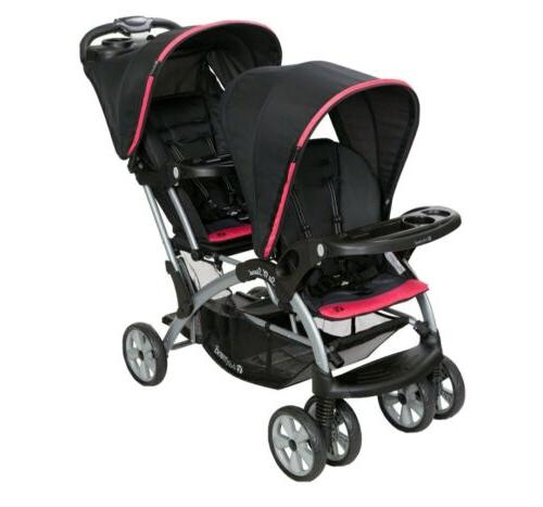 sit n stand double stroller carbon