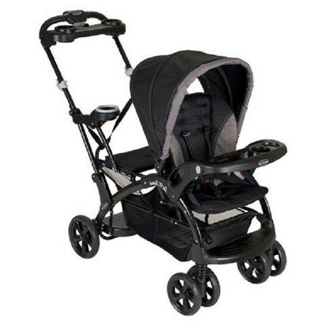 sit n stand ultra double stroller chrome