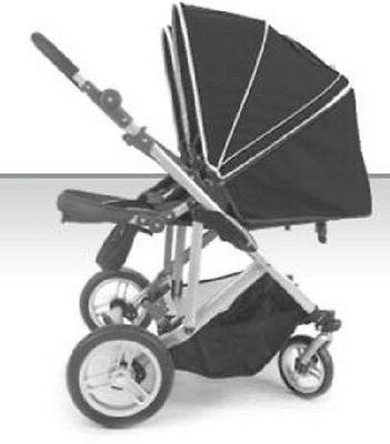 stroll air red duo 4 wheel double