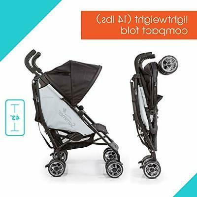 Summer 3Dflip Convenience Black/Gray – Lightweight Stroller w