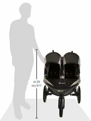 Baby Jogger X3 Double Stroller Black Grey, NEW