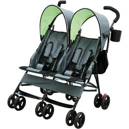 Twin Baby Double Stroller Toddler Carriage Folding Pushchair