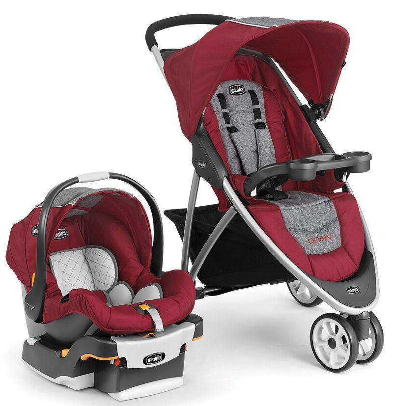 Chicco Viaro Travel Stroller KeyFit Car Seat Cranberry