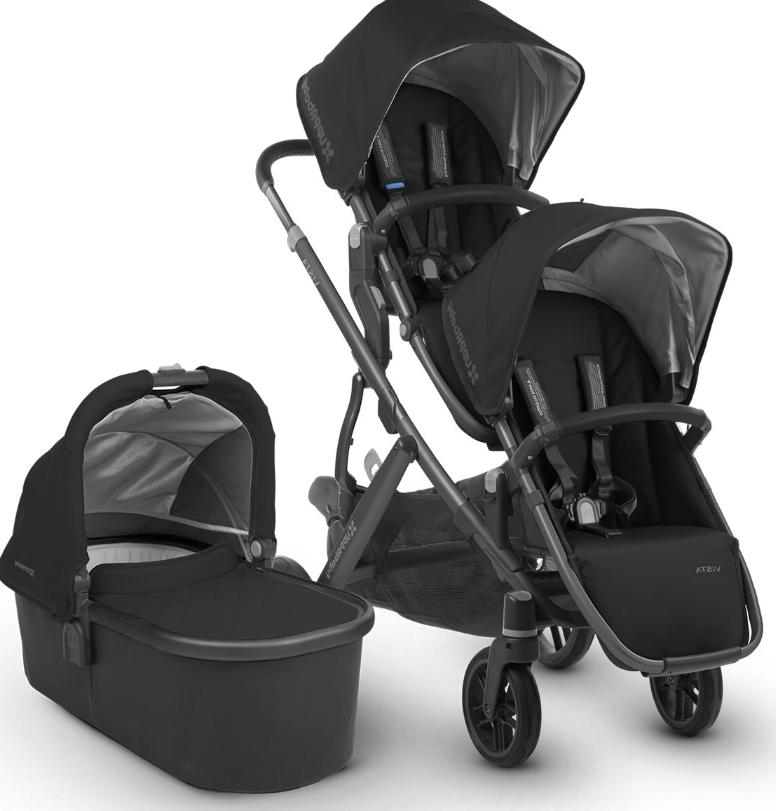 vista double stroller 2018 2019 jake black