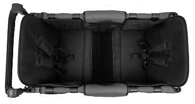 Wonderfold Multi 2 Passenger Folding Stroller Wagon Gray NEW