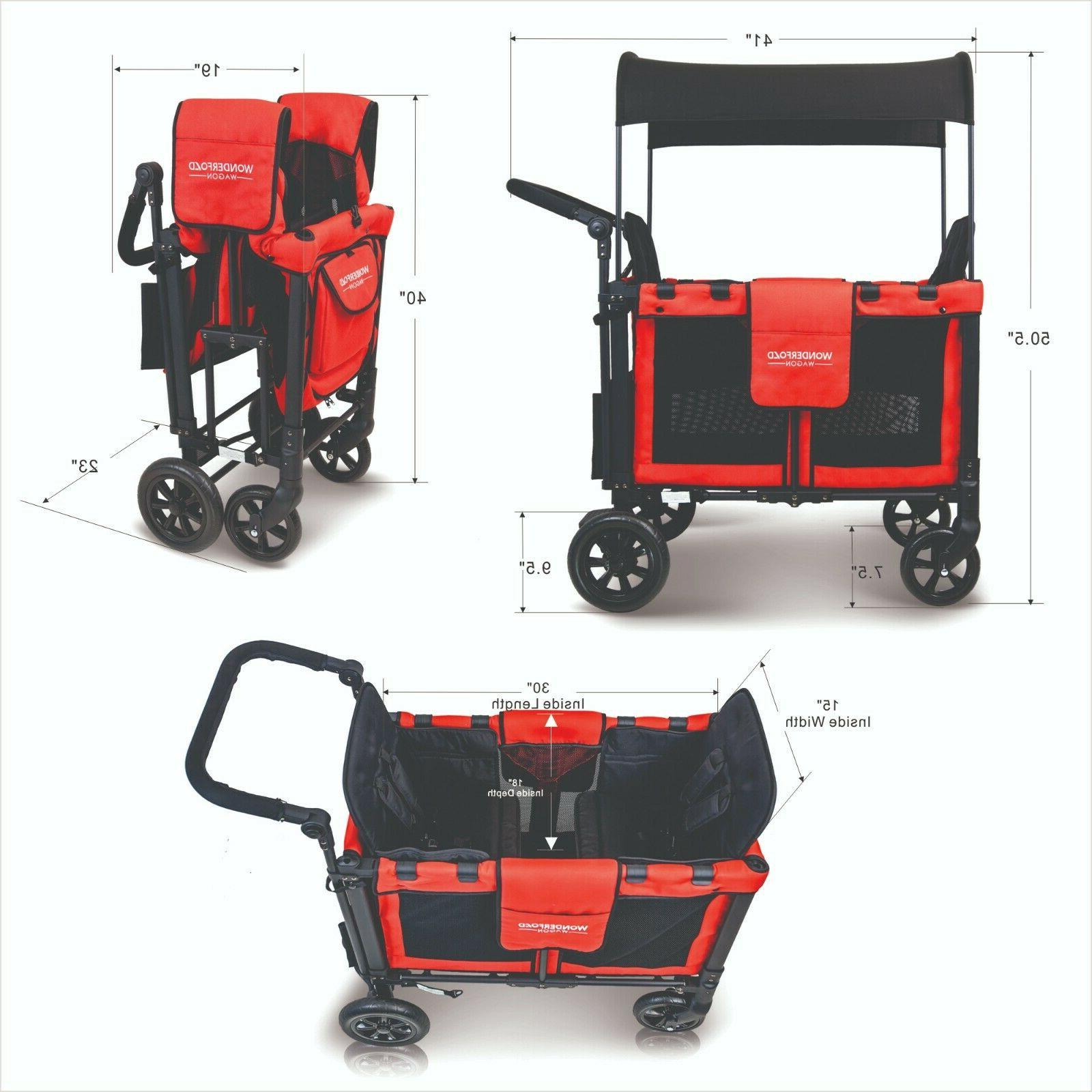 WonderFold Multi-Function Double Folding Wagon with Chair