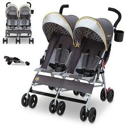Lightweight Double Twin Umbrella Stroller Reclining Side by
