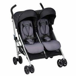 Evenflo Minno Twin Double Stroller, Glenbarr Grey, Fast Ship