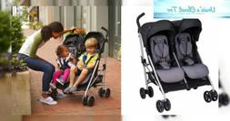 Evenflo Minno Twin Double Stroller, Glenbarr Grey, Grey