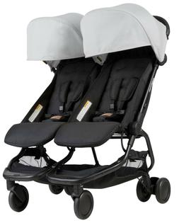 Mountain Buggy Nano DUO Double Stroller In Silver Brand New!