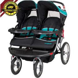 Navigator Double Jogger Stroller Steel Frame Durable Quick R