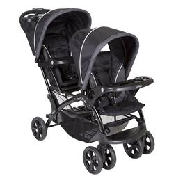 new double baby stroller new still in the box color Black