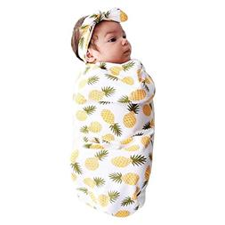 Tronet Newborn Baby Toddler Sleeping Bag Swaddle+Hat Soft Bl