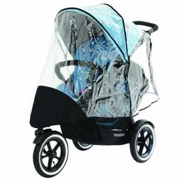 phil&teds Stormy Weather Cover for Double Navigator Stroller