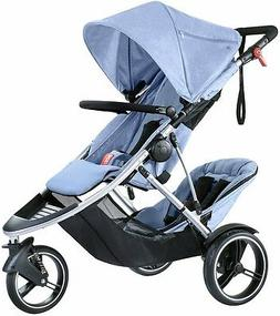 Phil & Teds Dash V5 Inline Twin Baby Double Stroller w Secon