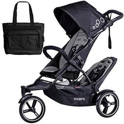 Phil Teds Dot Double Stroller with Second Seat With Diaper B