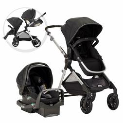 Evenflo Pivot Xpand Modular Travel System, Stallion Black