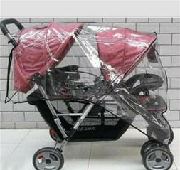 Protective Rain Cover for Double Tandem Stroller