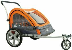 InStep Quick-N-EZ 10 Orange Double Bike Trailer Tow Behind &