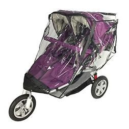 Rain Cover Double Stroller Universal Size Weather Shield Sid