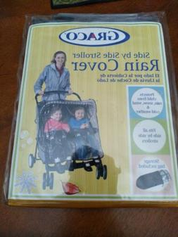 GRACO Side by Side Stroller Rain Cover w/Storage Bag Style #