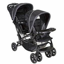 Sit and Stand Double Stroller Removable Rear Seat and Child