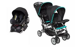 Baby Trend Sit n Stand Double Stroller One Infant Car Seat C