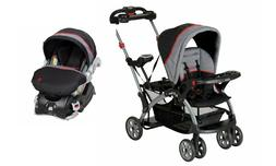 Baby Trend Sit N' Stand Double Stroller with Car Seat Travel