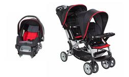 Baby Trend Sit n Stand Double Stroller with Infant Car Seat