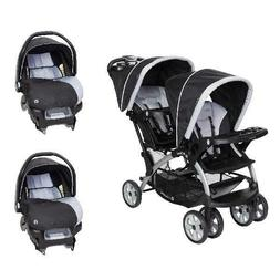 Baby Trend Sit N Stand Tandem Stroller + Car Seats  Travel S
