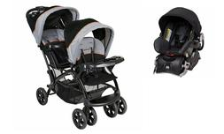 Baby Trend Sit 'N Stand with Car Seat Ultra Double Stroller