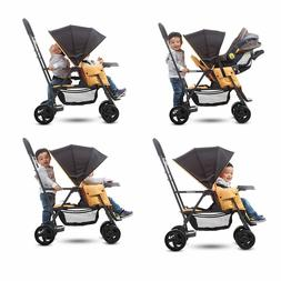 Sit And Stand Stroller Infant + Toddler Double Kids Tandem w