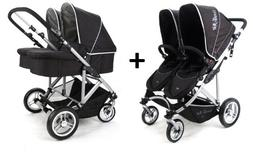 Stroll-Air 2017 My Duo Stroller WITH 2 Bassinets