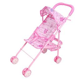 """Digabi 20.5"""" Tall My First Doll Stroller Pink Foldable Toy B"""