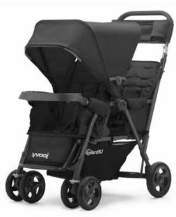 JOOVY Tandem Stroller Caboose Too Ultralight Graphite Stand