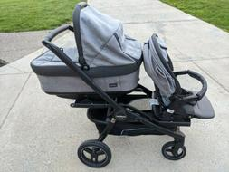 team stroller with bassinet toddler seat plus