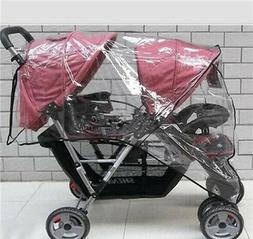 TWIN BABY Stroller Cart Universal Pushchair DOUBLE Rain Cove