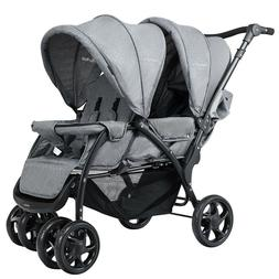 Twin Stroller Double Baby Pushchair Infant Foldable Stroller